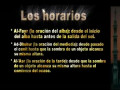 LA ORACION (02) LOS HORARIOS DE LAS ORACIONES